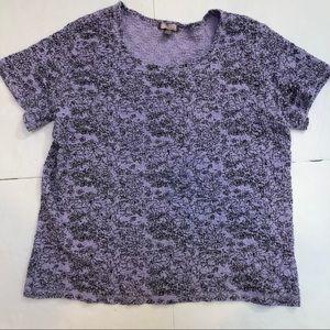 White Stag blouse Sz XL XG Stretchy lavender black